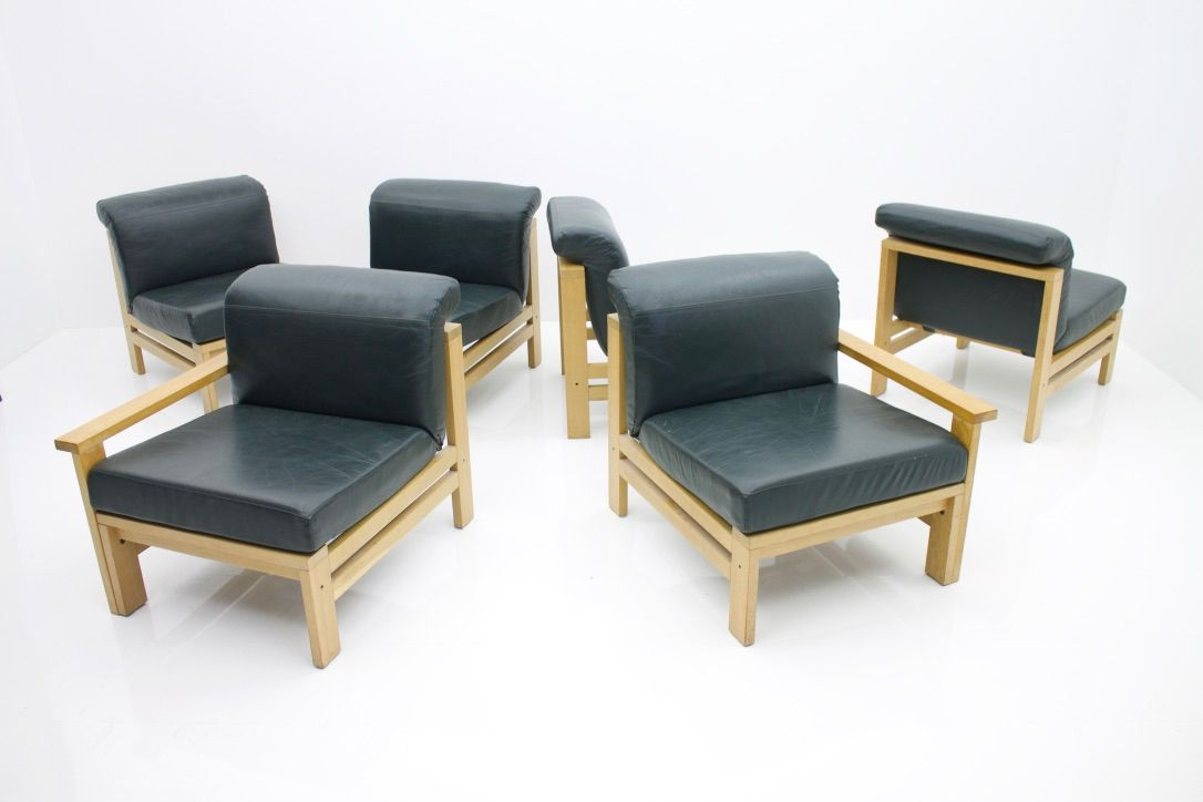 modulares vintage leder sofa bei pamono kaufen. Black Bedroom Furniture Sets. Home Design Ideas