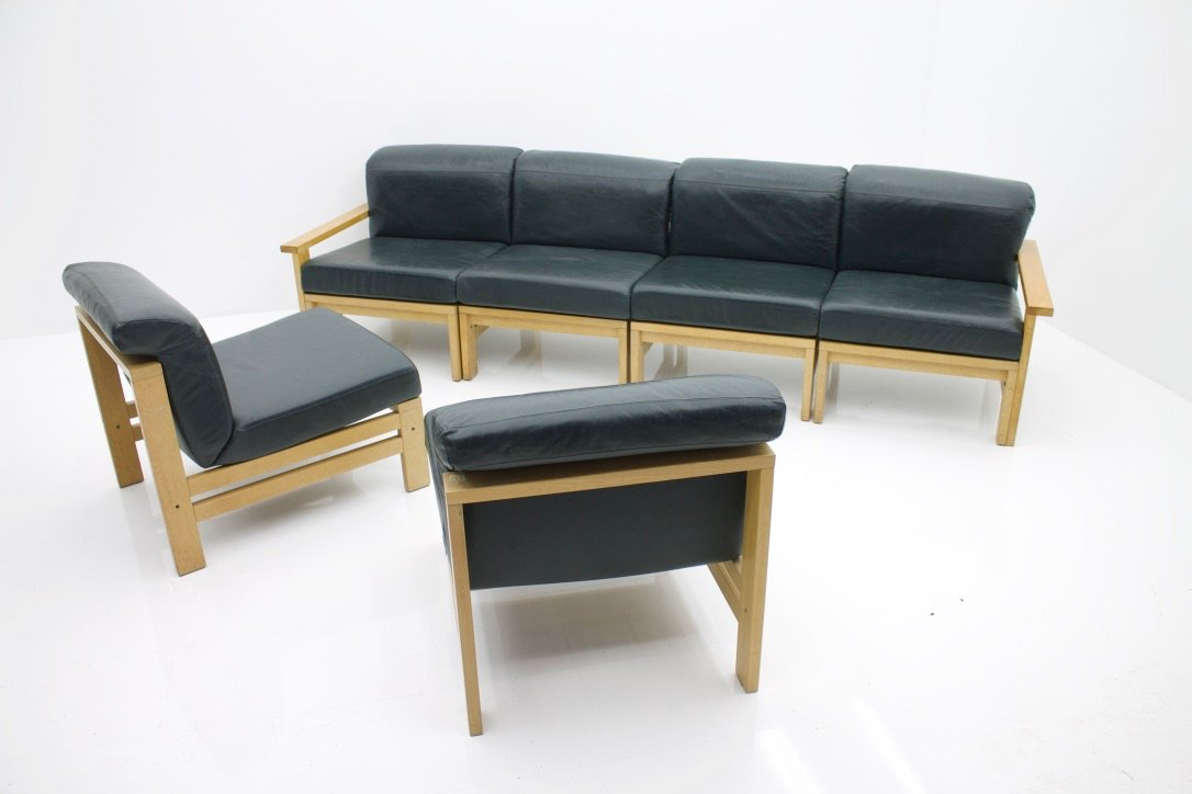 modulares vintage leder sofa bei pamono kaufen. Black Bedroom Furniture Sets. Home Design Ideas