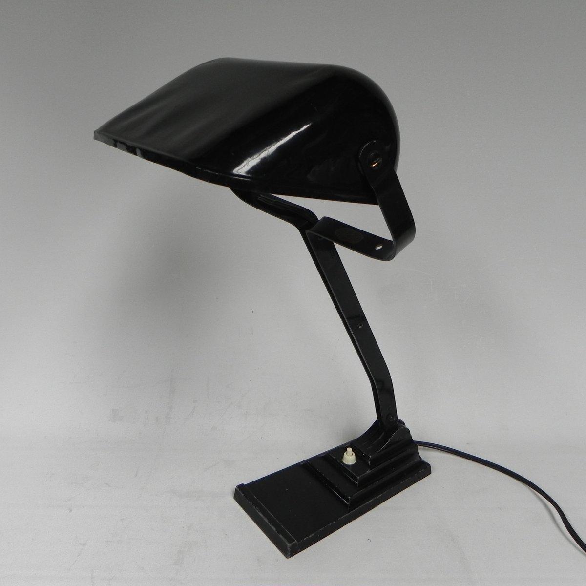 Schreibtischlampe mit Stahlschirm von Erpe, 1930er