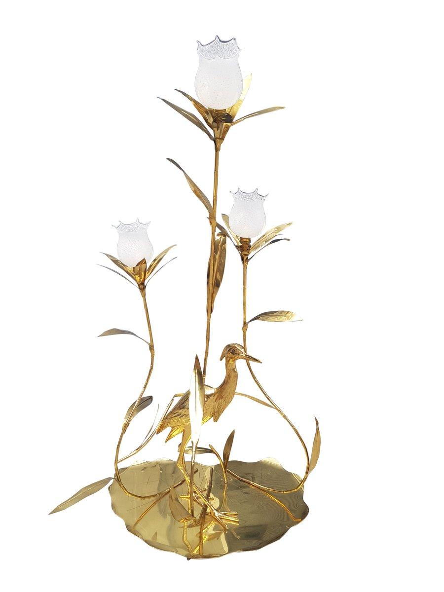 Große Messing Stehlampe von Alfreda Freda für Cittone Oggi, 1975