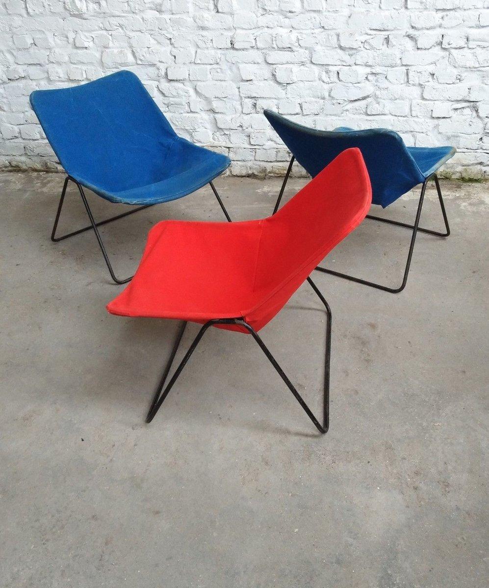 Französischer G1 Sessel von Pierre Guariche für Airborne, 1950er, 3er ...
