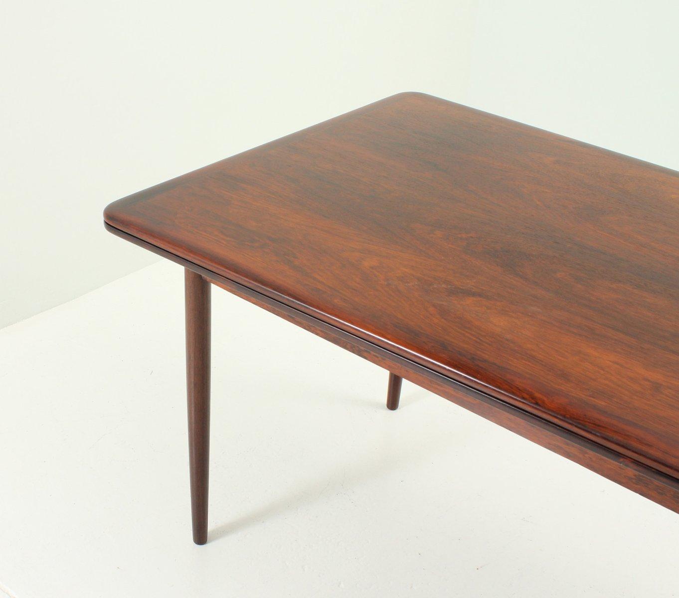 table de salle manger extensible en palissandre danemark 1950s en vente sur pamono. Black Bedroom Furniture Sets. Home Design Ideas