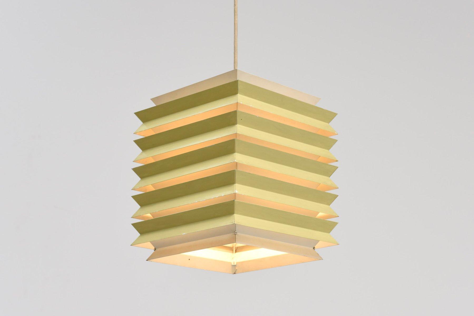 Danish Square Pendant Lamp From Lyfa 1960s