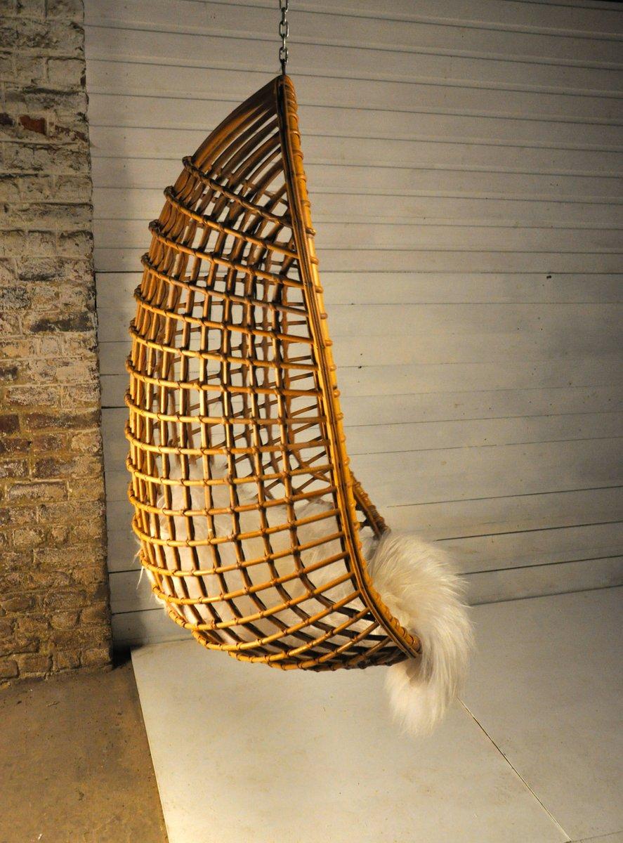 Hanging Rattan Chair, 1960s for sale at Pamono on phoenix sylvestris, nungu fruit, areca catechu, bactris gasipaes,