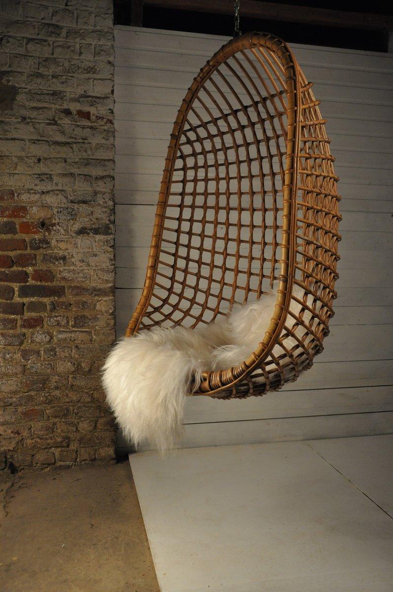 rattan h ngesessel 1960er bei pamono kaufen. Black Bedroom Furniture Sets. Home Design Ideas