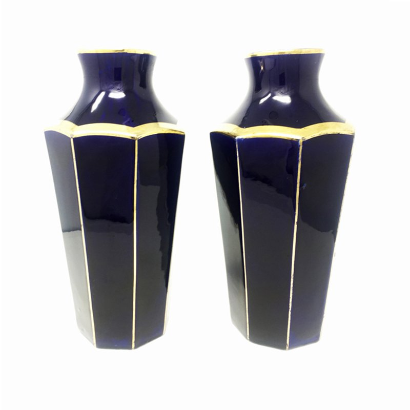 French Art Deco Ceramic Vases From Moulin Des Lupes 1930s Set Of 2