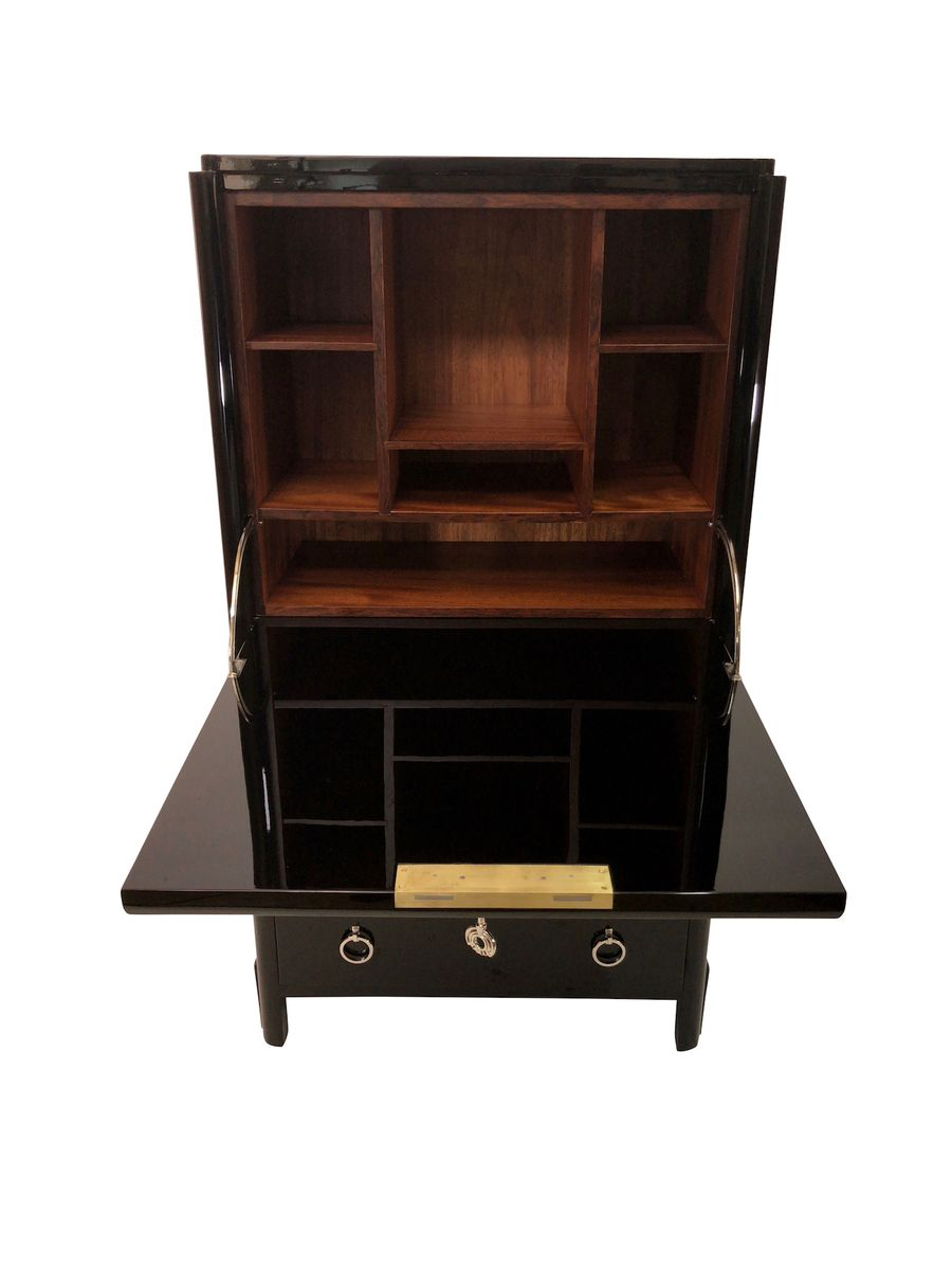 secr taire art deco laqu noir france 1930s en vente sur pamono. Black Bedroom Furniture Sets. Home Design Ideas