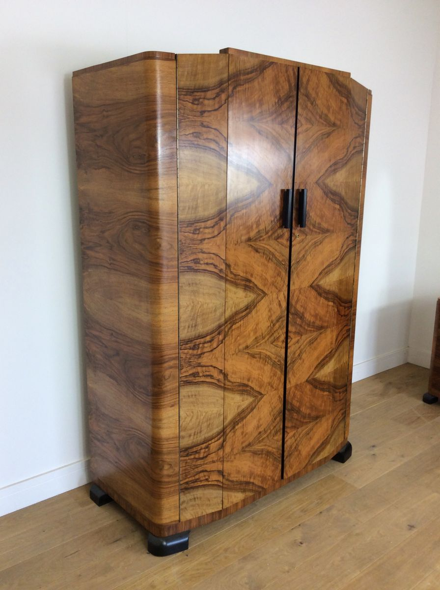 Art Deco Wardrobe, 1930s For Sale At Pamono