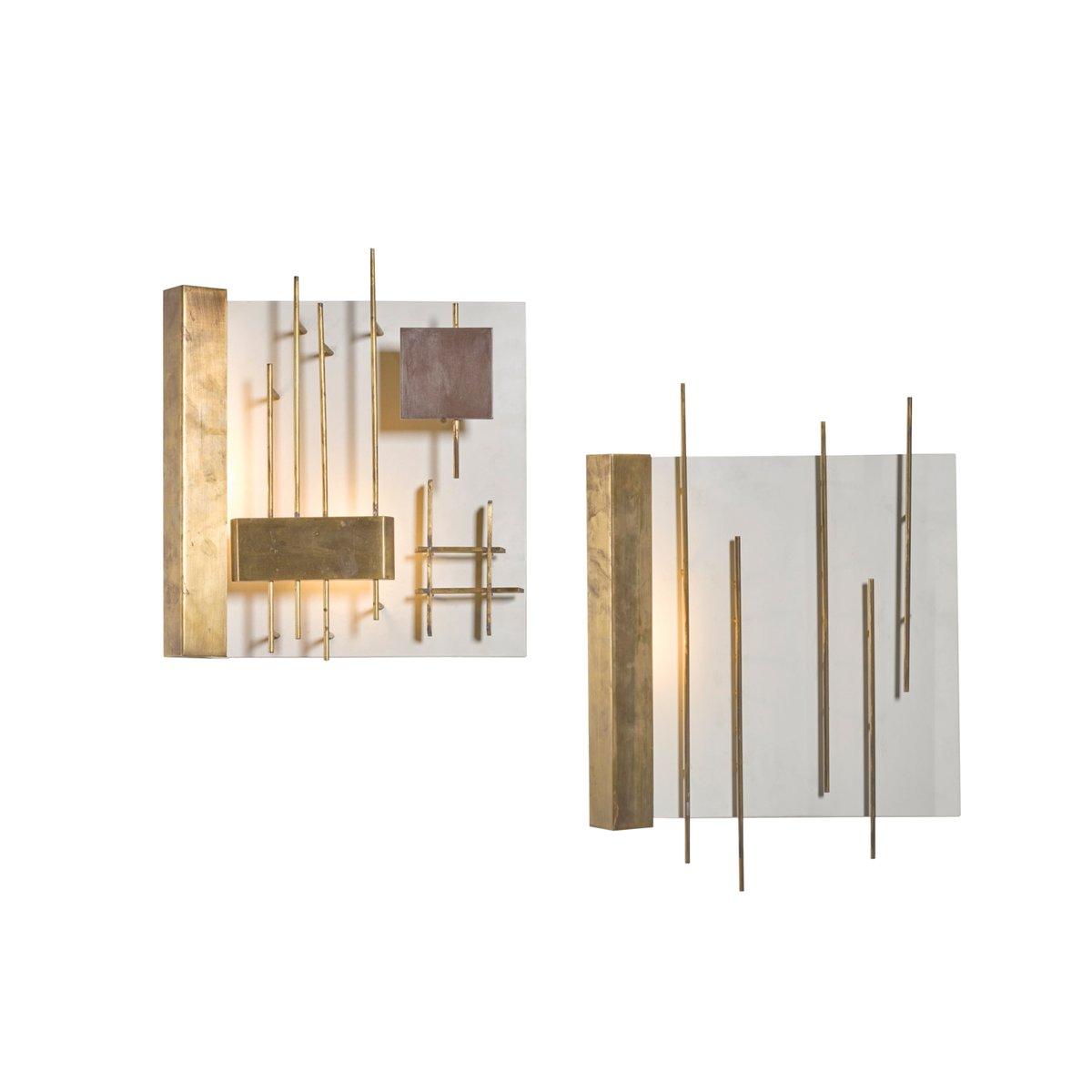 Quadri Luminosi 575 & 576 Wandleuchten von Gio Ponti für Lumi, 1960er,...