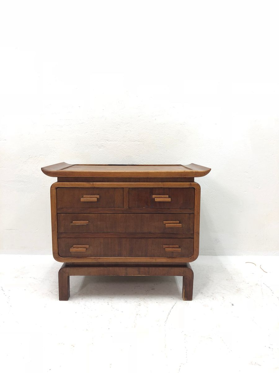 Commode tiroirs vintage en noyer en vente sur pamono - Commode vintage ninedesign ...