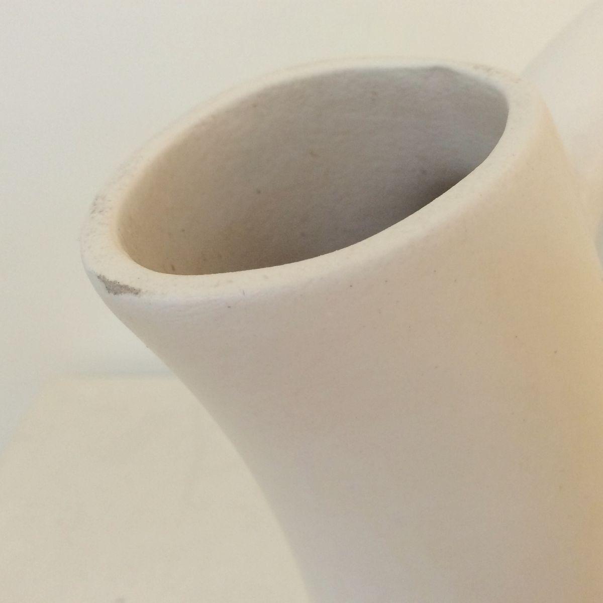 wei glasierte mid century keramik vase von andr baud bei. Black Bedroom Furniture Sets. Home Design Ideas