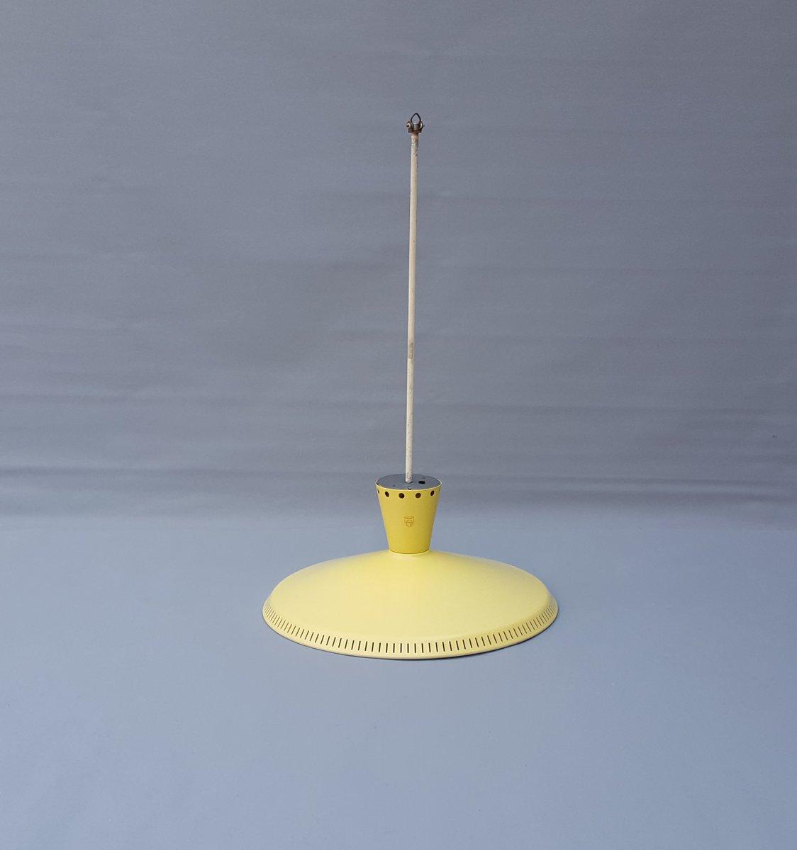lampe suspension nb92 vintage par louis kalff pour philips en vente sur pamono. Black Bedroom Furniture Sets. Home Design Ideas