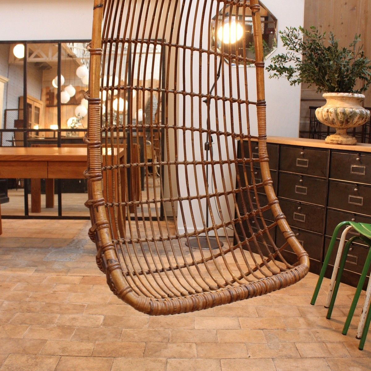 Hanging Rattan Egg Chair, 1960s 4. $932.00. Price Per Piece