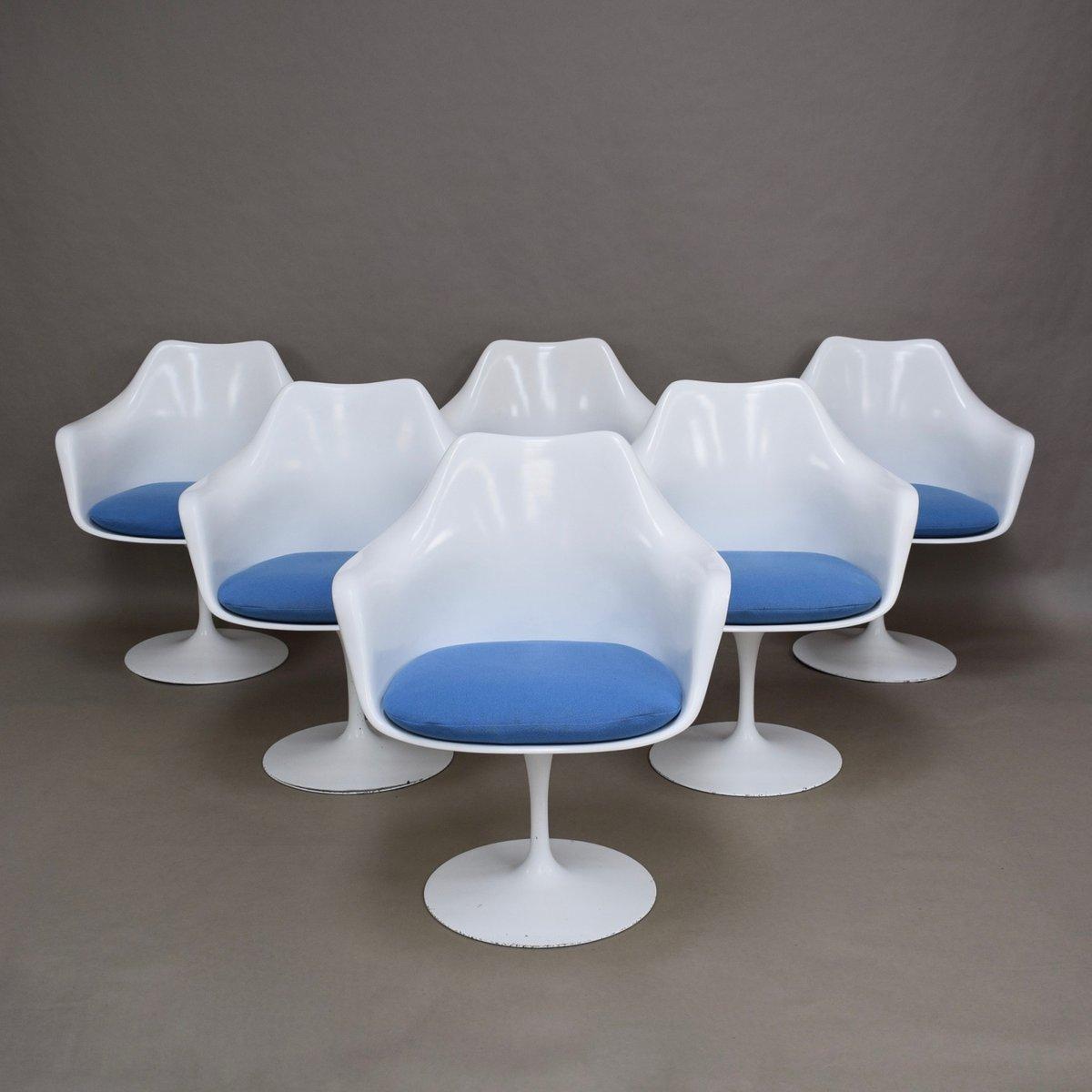Vintage American Tulip Chairs By Eero Saarinen For Knoll, Set Of 6