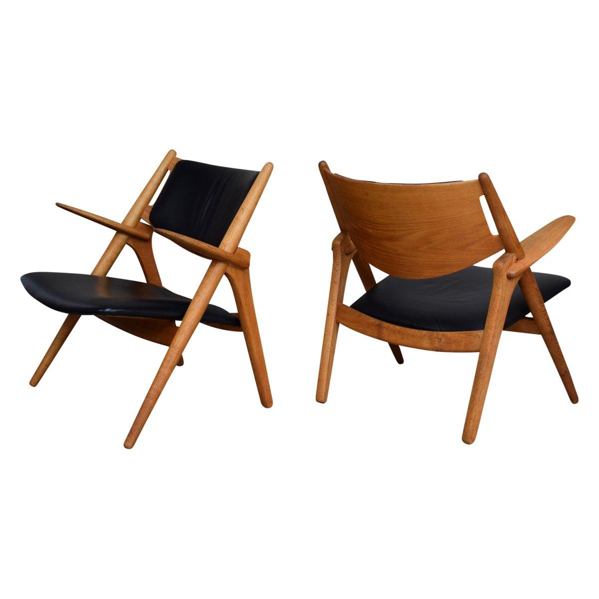Modell CH28 Sawbuck Chairs von Hans J. Wegner für Carl Hansen & Søn, 1...