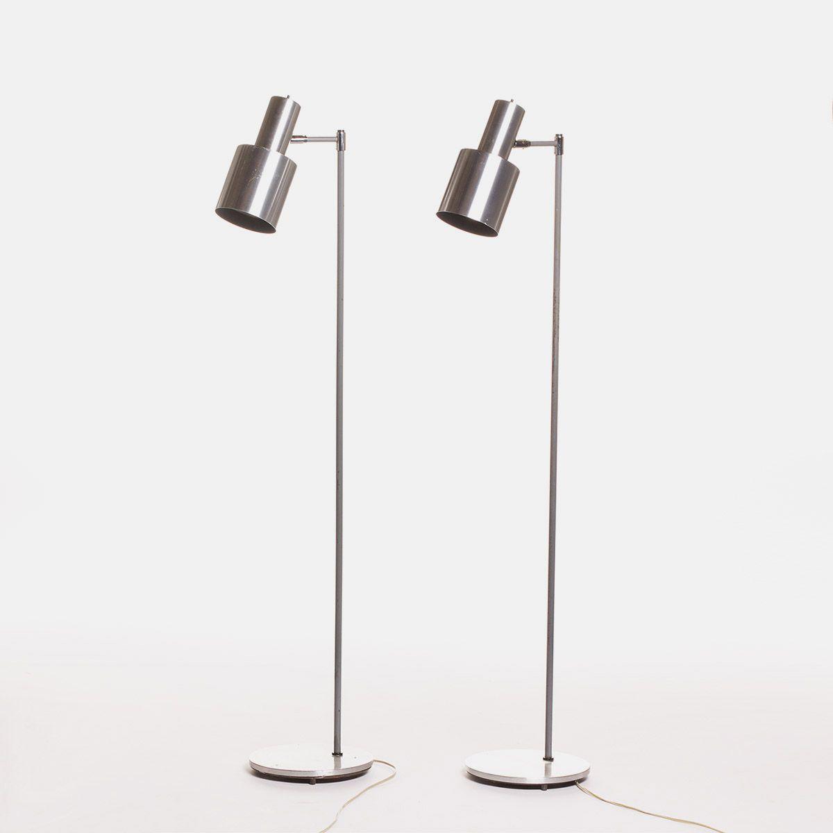 Vintage Aluminium Studio Stehlampen von Jo Hammerborg für Fog & Mørup,...