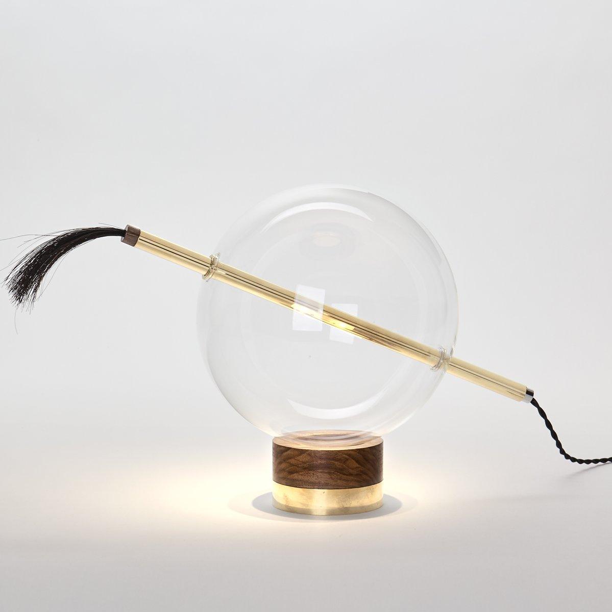 Globo Tischlampe aus poliertem Messing von Silvio Mondino Studio