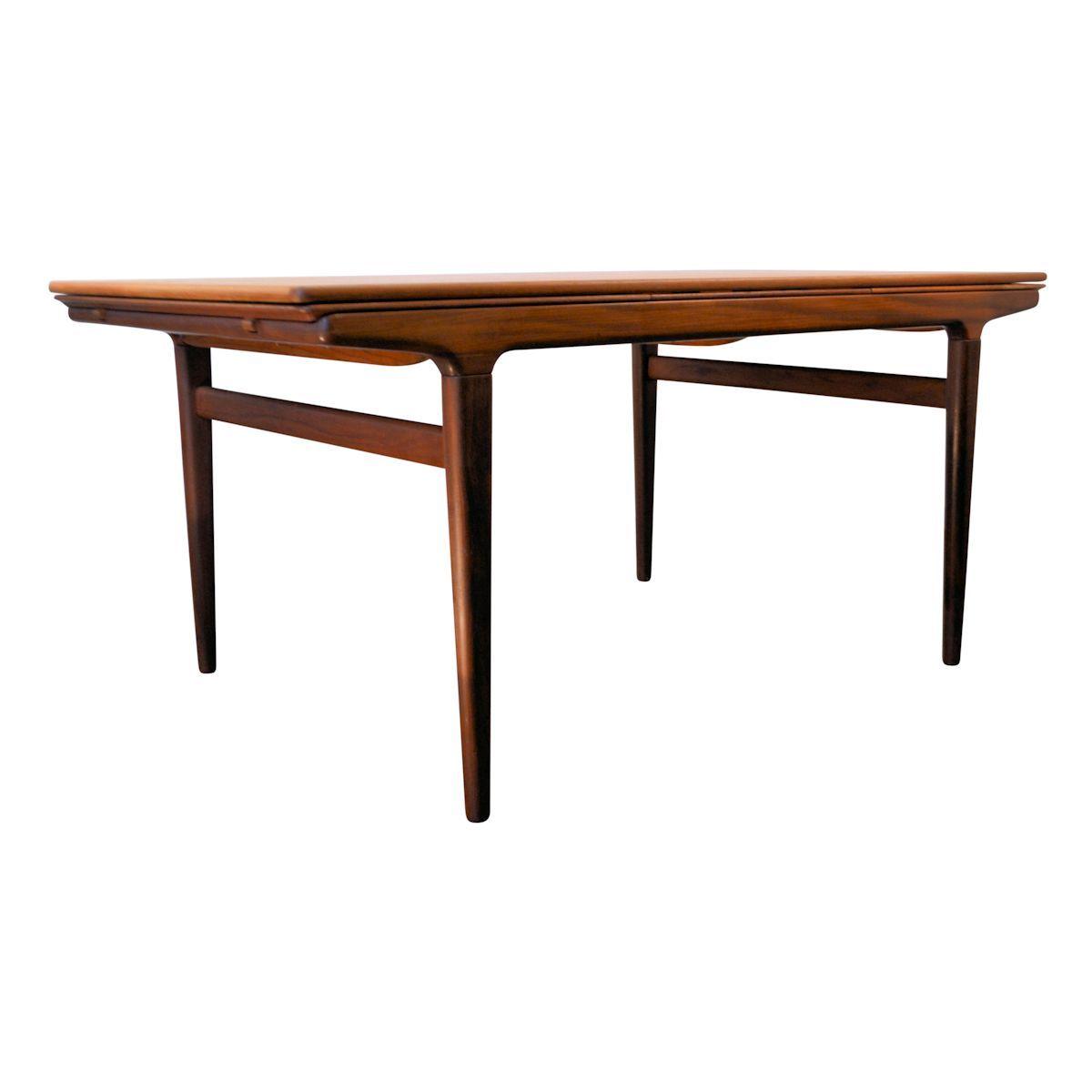 table de salle manger vintage extensible en teck par johannes andersen pour uldum m belfabrik. Black Bedroom Furniture Sets. Home Design Ideas