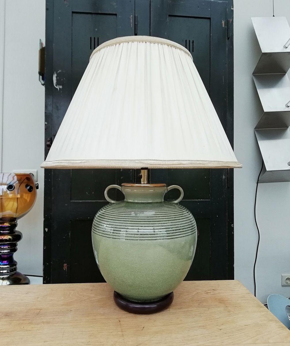 Vintage Celadon Table Lamp, 1950s
