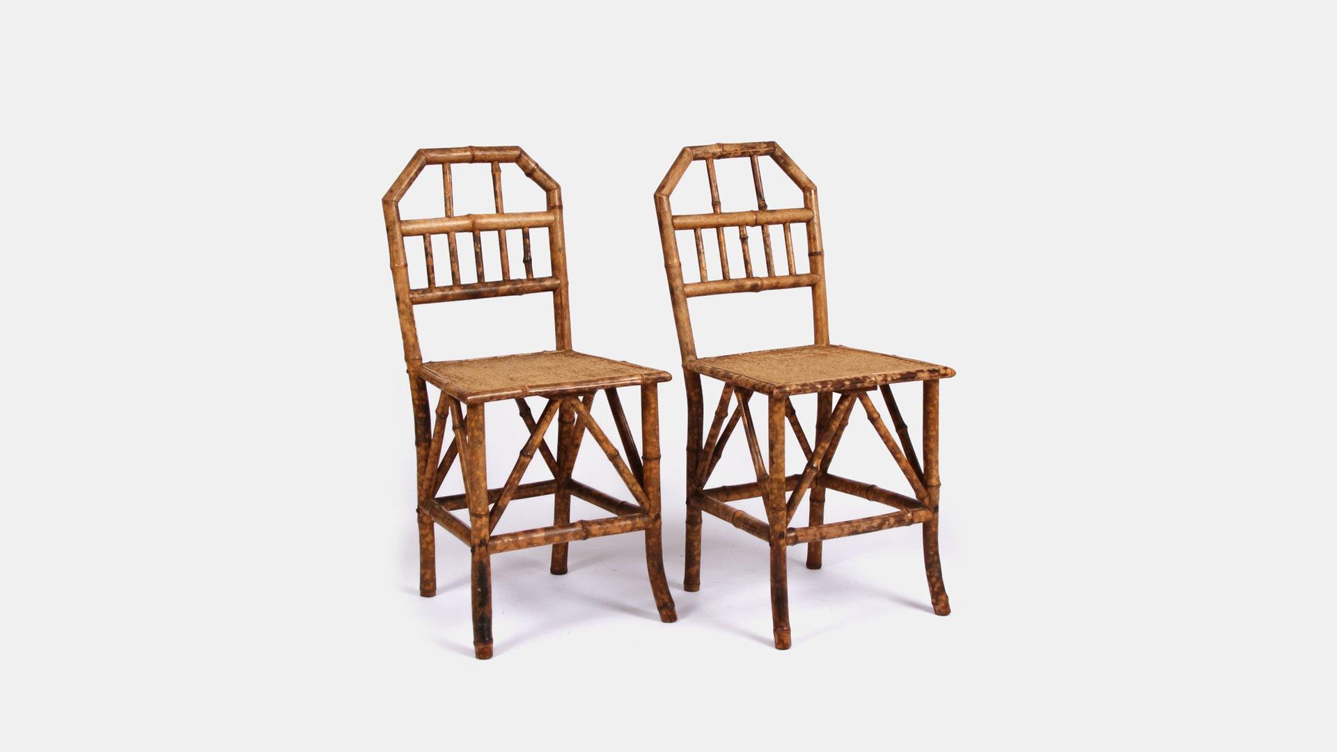 viktorianische bambus st hle 2er set bei pamono kaufen. Black Bedroom Furniture Sets. Home Design Ideas