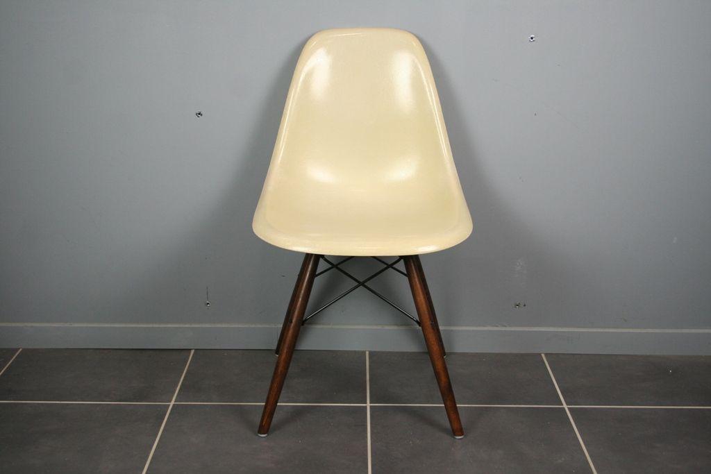 Weißer Vintage DSW Chair Von Charles U0026 Ray Eames Für Herman Miller