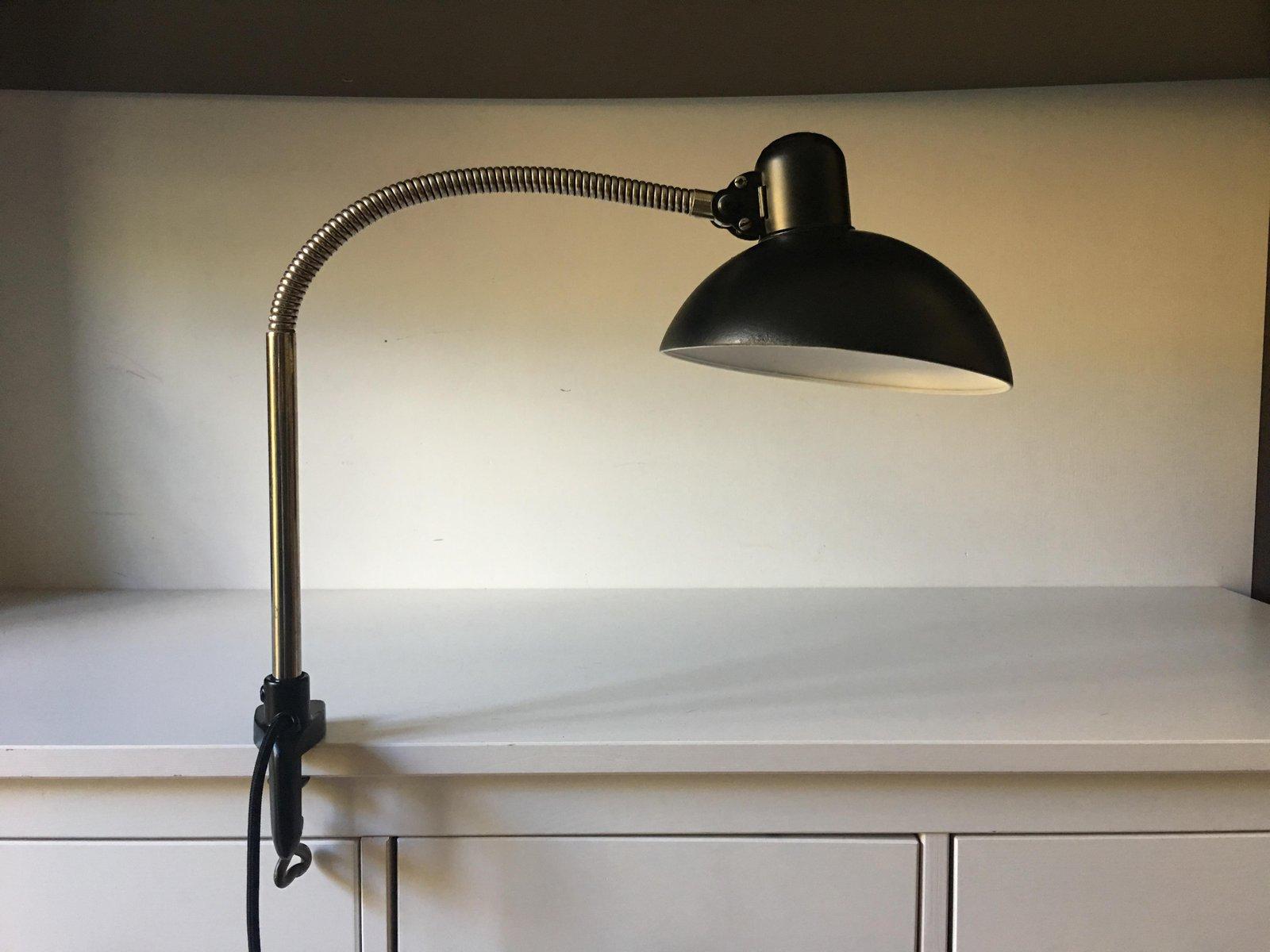 Vintage Schreibtischlampe mit Klemme von Christian Dell für Kaiser Ide...