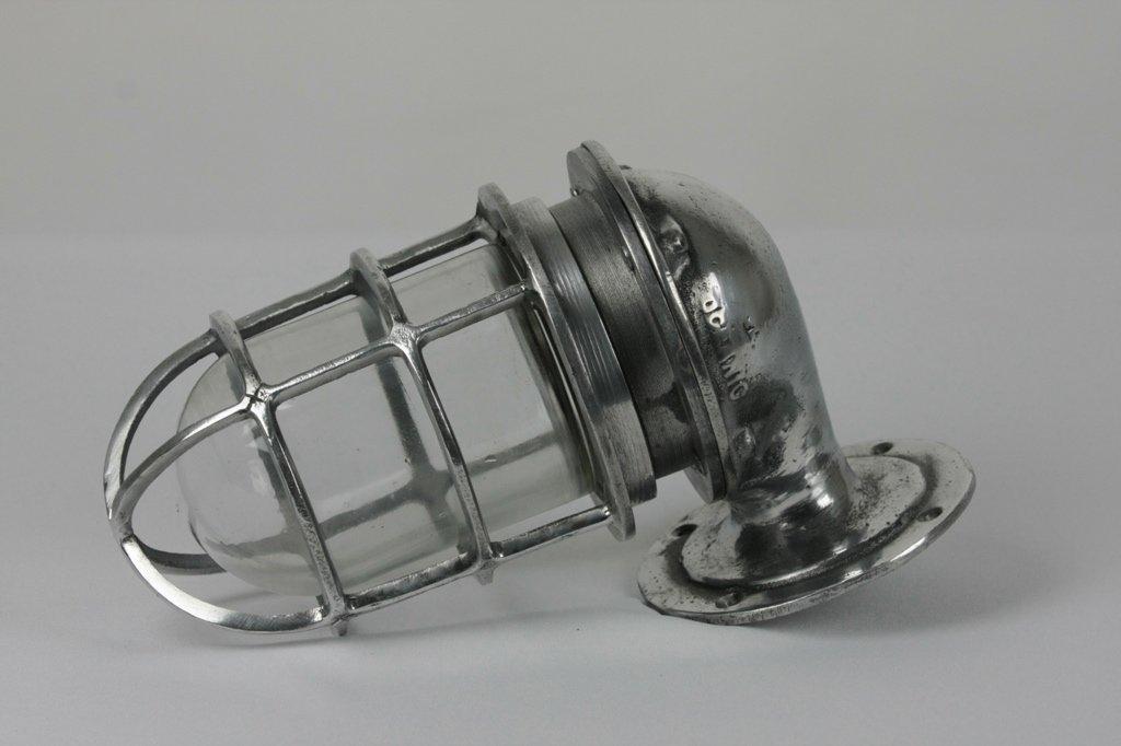 Aluminium Wandleuchte von Oceanic, 1950er