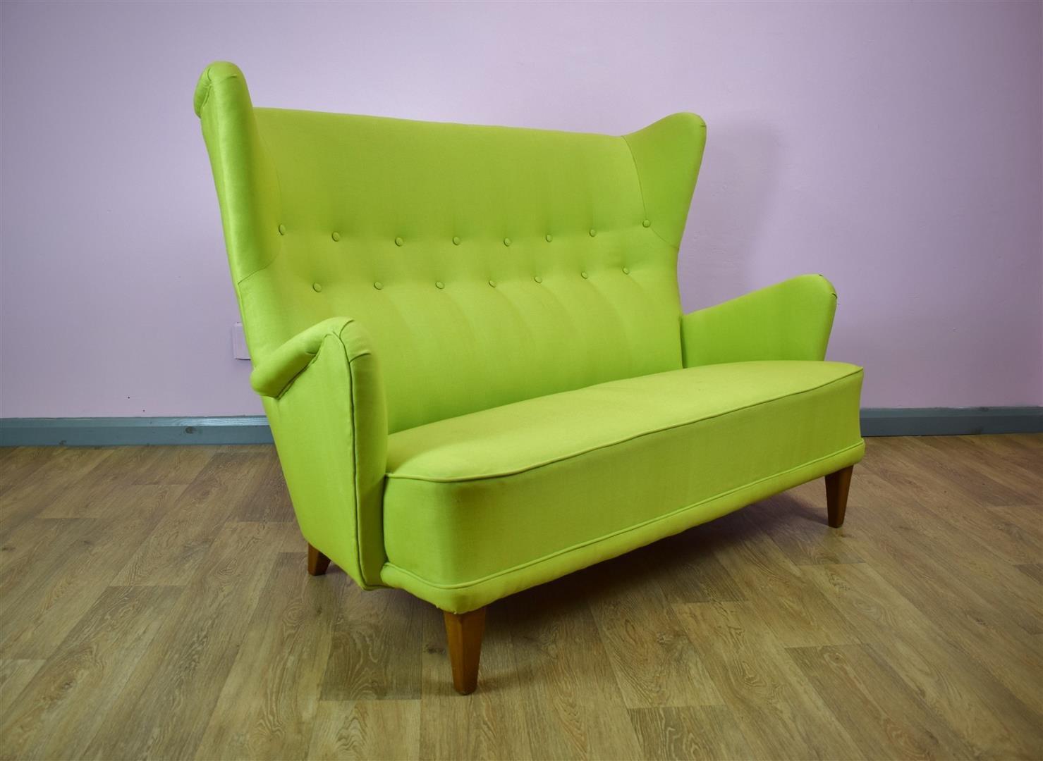 canap de dos plazas dan s a os 50 en venta en pamono. Black Bedroom Furniture Sets. Home Design Ideas