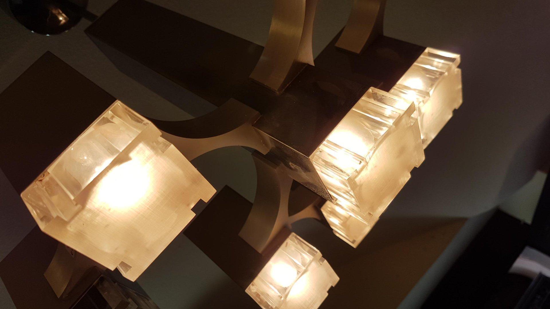 AuBergewohnlich Cubic Kronleuchter Mit 9 Leuchten Von Gaetano Sciolari Für Sciolari, 1970er