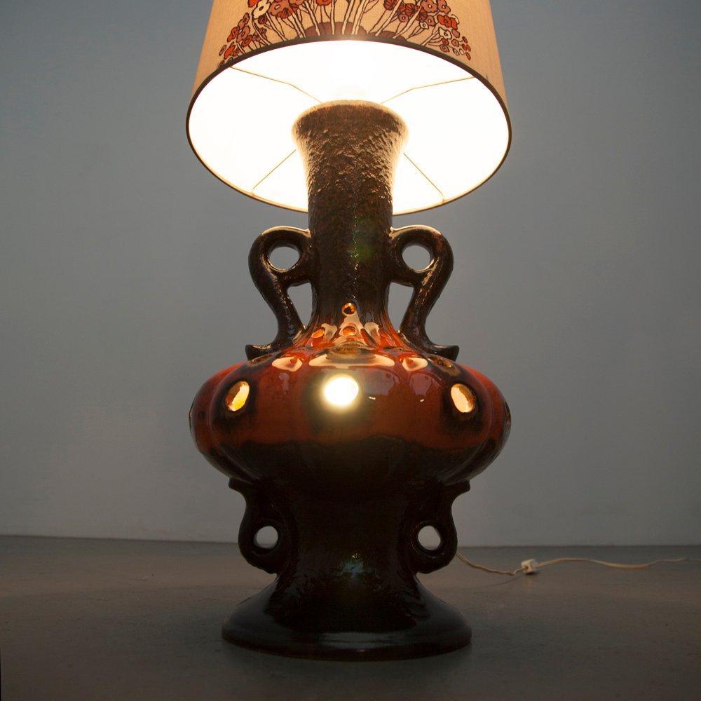 lampe de bureau vintage en c ramique maill e rouge 1970s en vente sur pamono. Black Bedroom Furniture Sets. Home Design Ideas