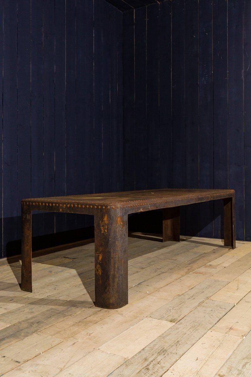 Antiker industrieller Wassertank Tisch