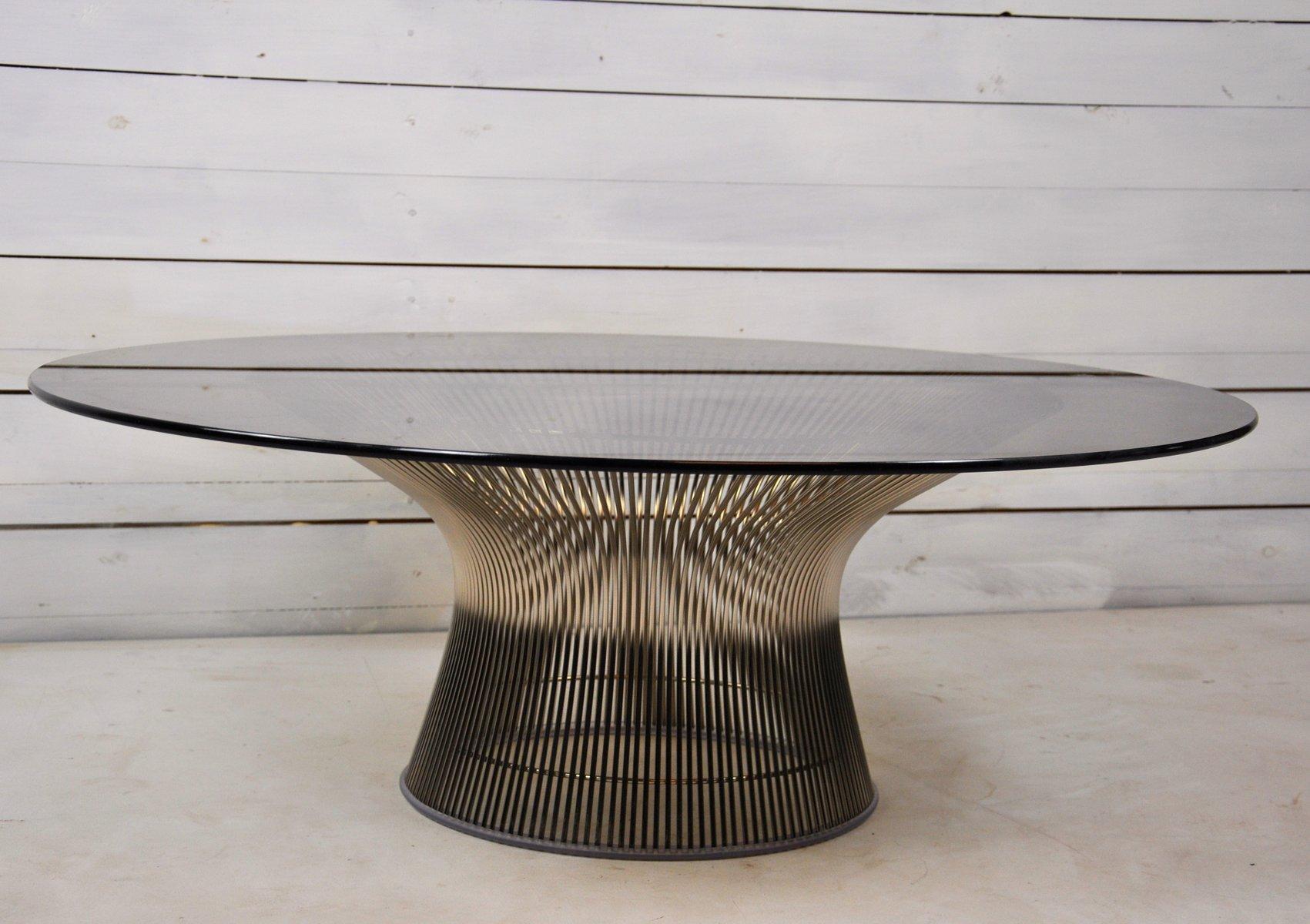 Runder Glas Couchtisch von Warren Platner für Knoll International, 196...