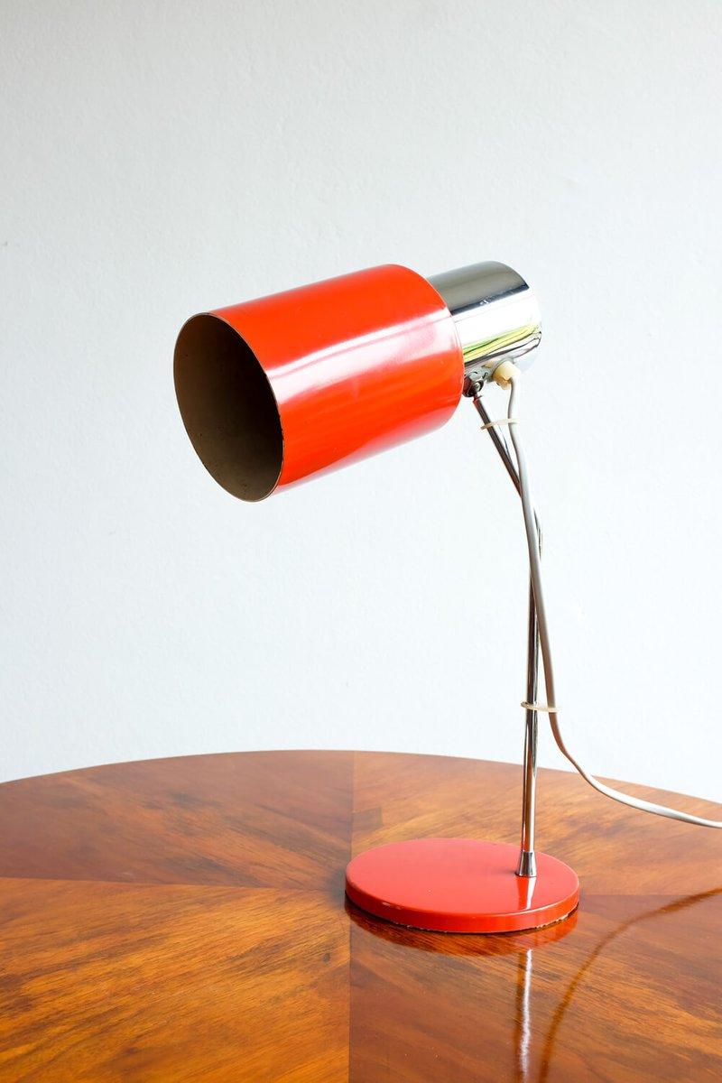 Lampada Da Tavolo Modello 1636 Rossa Di Josef H Rka Per