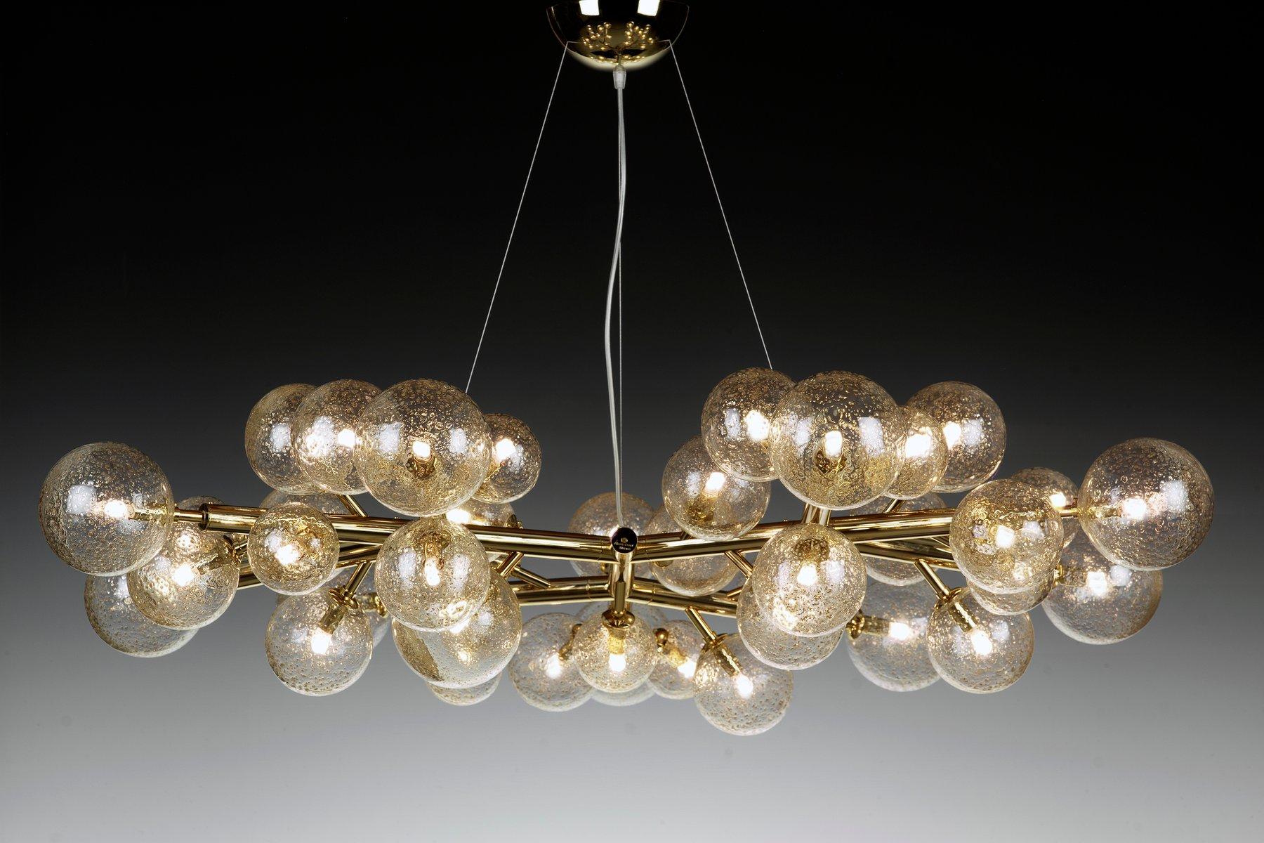 Kronleuchter Für Teelichter ~ Mimosa kronleuchter mit leuchten in gold von alberto dona bei