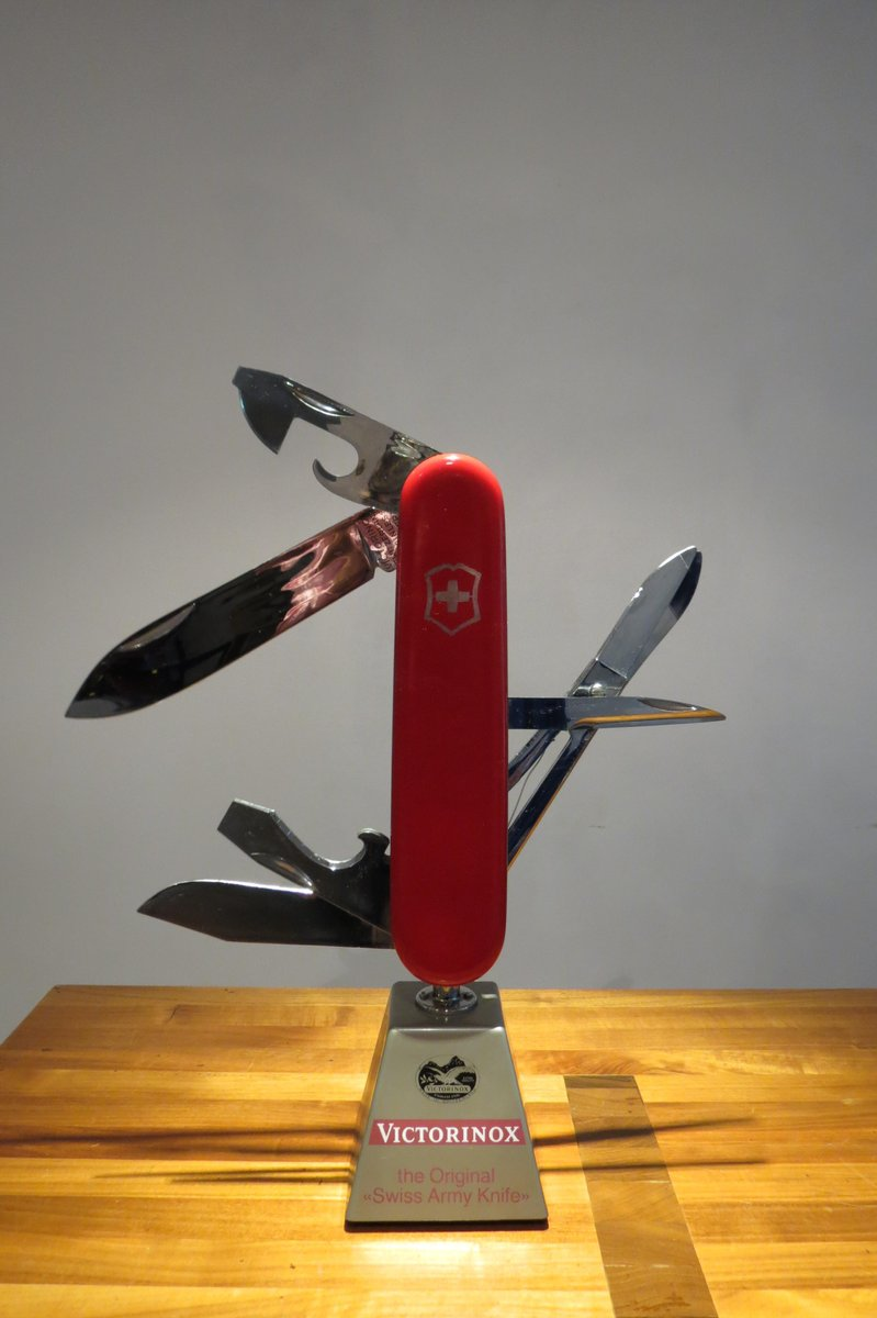 Moving Swiss Army Knife Display By Victorinox 1970s For