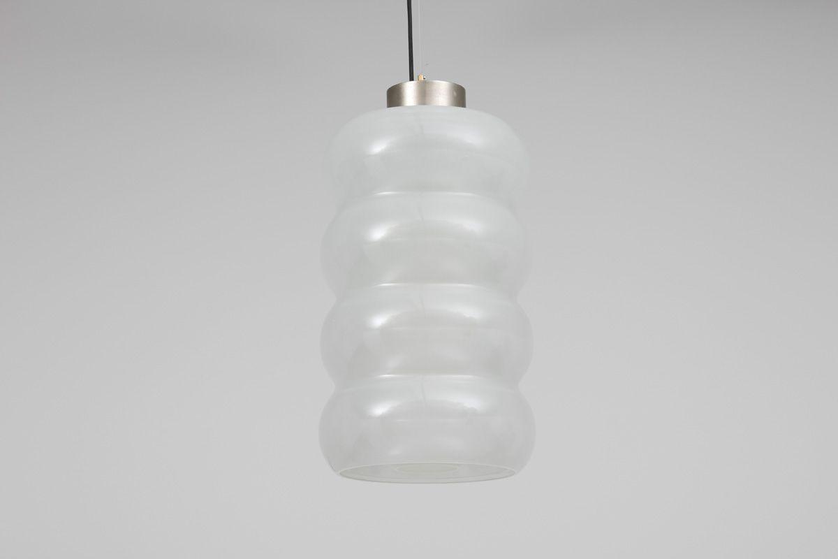 Glas Deckenlampe von Carlo Nason für Mazzega, 1960er