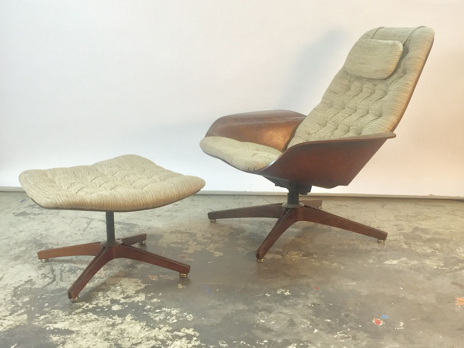 Vintage Mr Chair´´´´ Sessel und Ottomane von George Mulhauser für Plycraf...