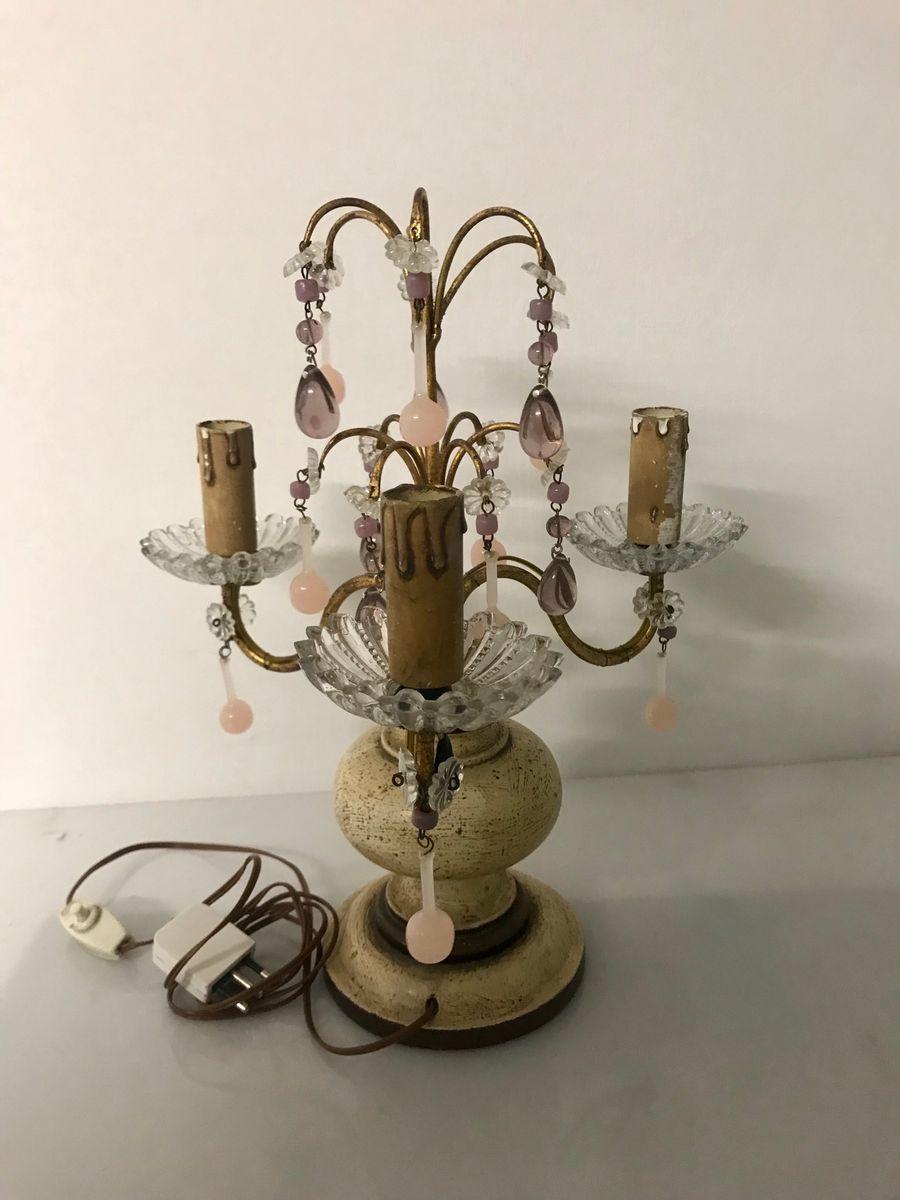 Vintage tischlampen mit murano h ngeleuchten 2er set bei for Tischlampen vintage