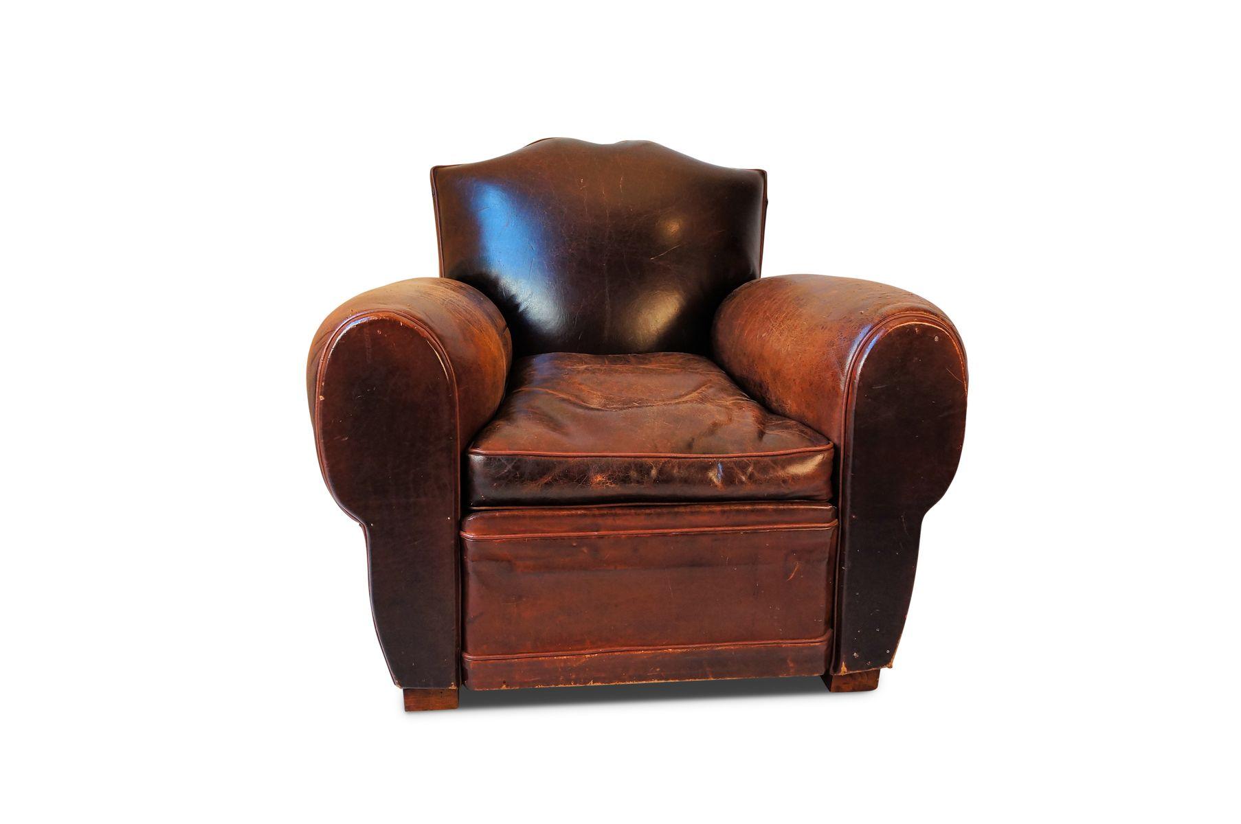 Antike Französische Schnurrbart Clubsessel & Sofa in Schwarz