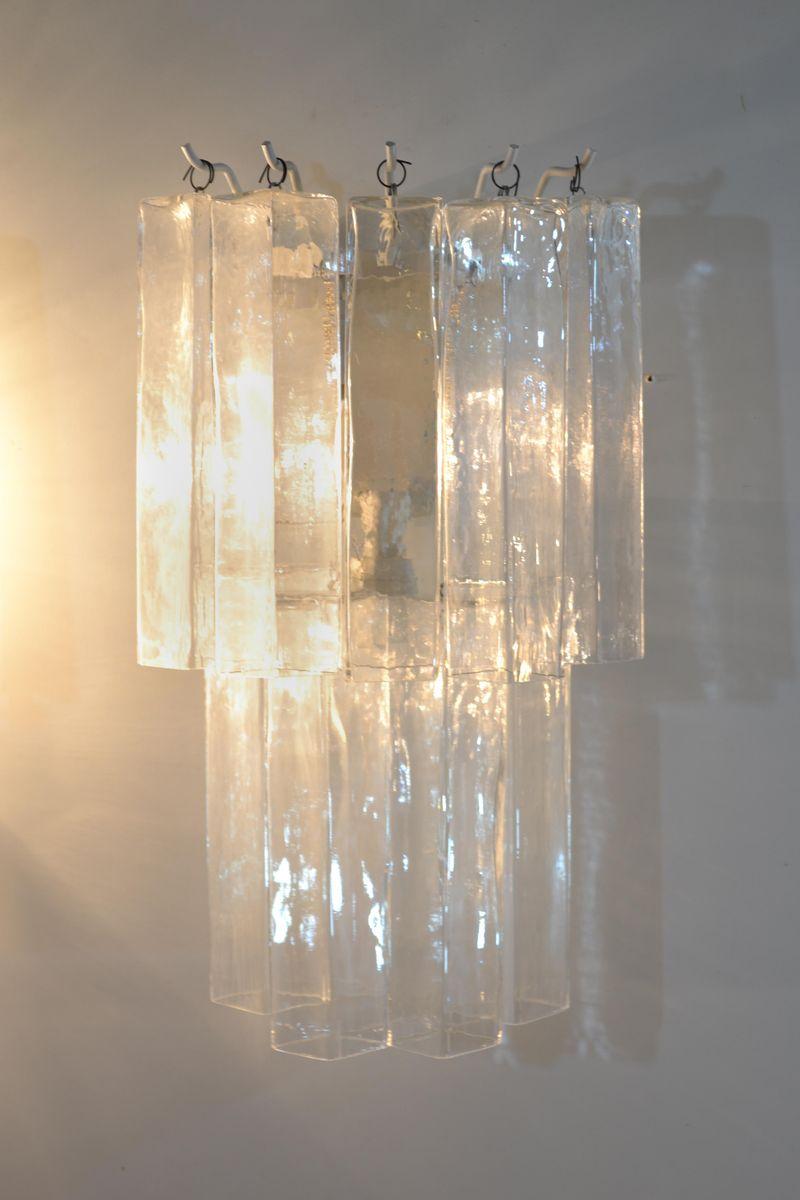 Italienische Murano Glas Wandleuchten, 1960er, 2er Set