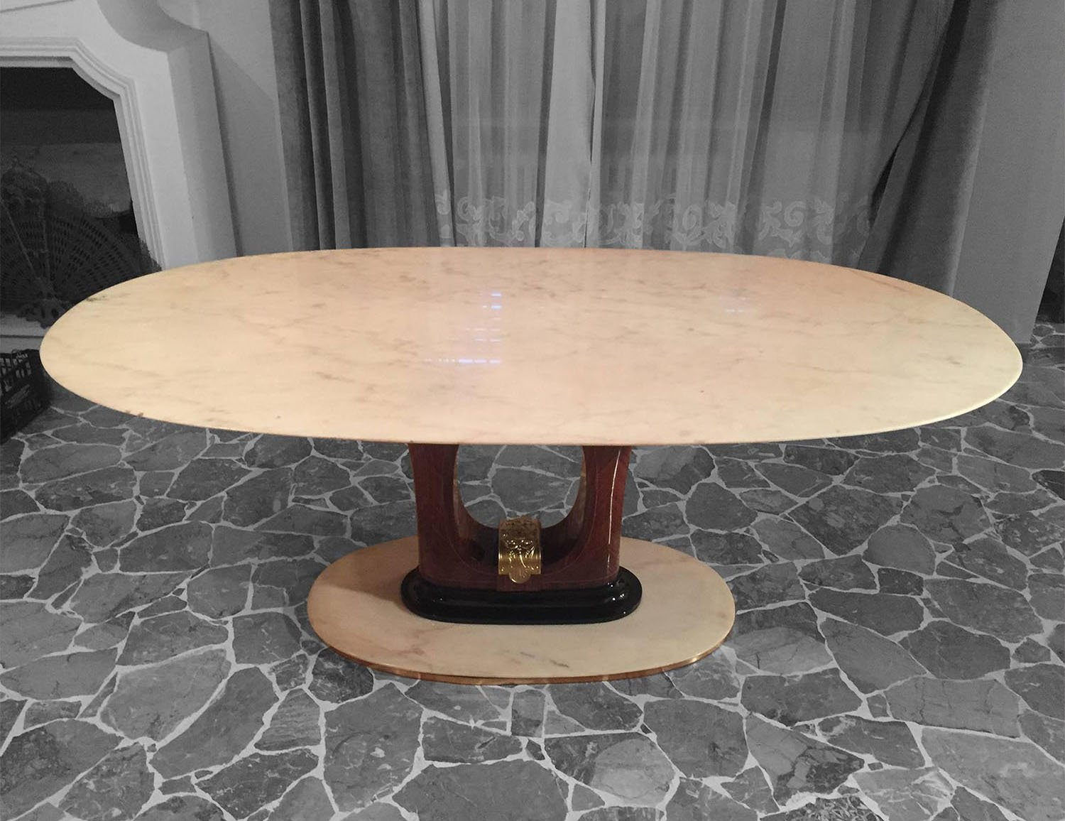 MidCentury Italian Marble Dining Table S For Sale At Pamono - Mid century marble dining table