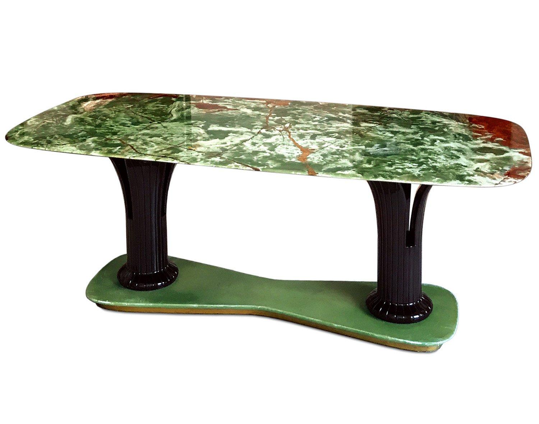 italienischer mid century marmor onyx esstisch 1955 bei pamono kaufen. Black Bedroom Furniture Sets. Home Design Ideas