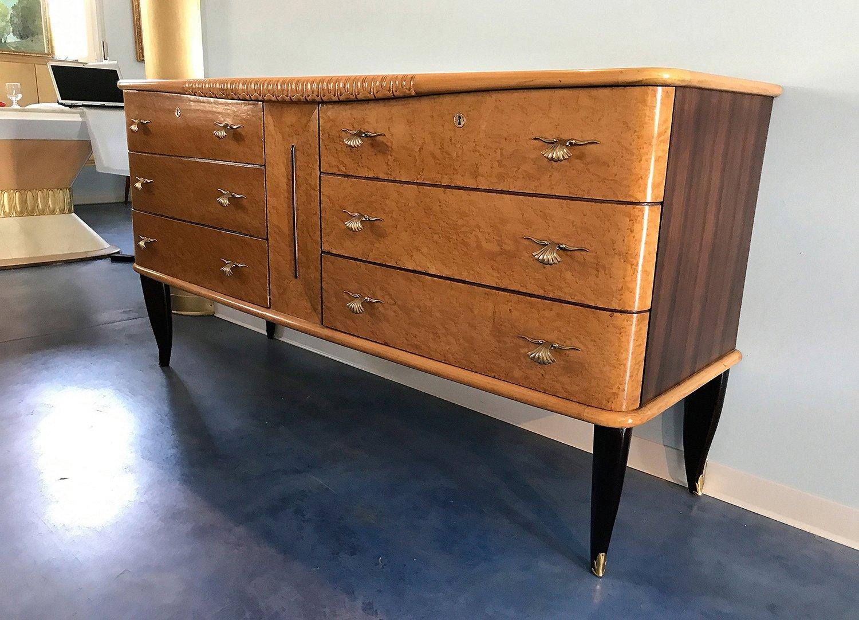 coiffeuse art d co italie 1940s en vente sur pamono. Black Bedroom Furniture Sets. Home Design Ideas