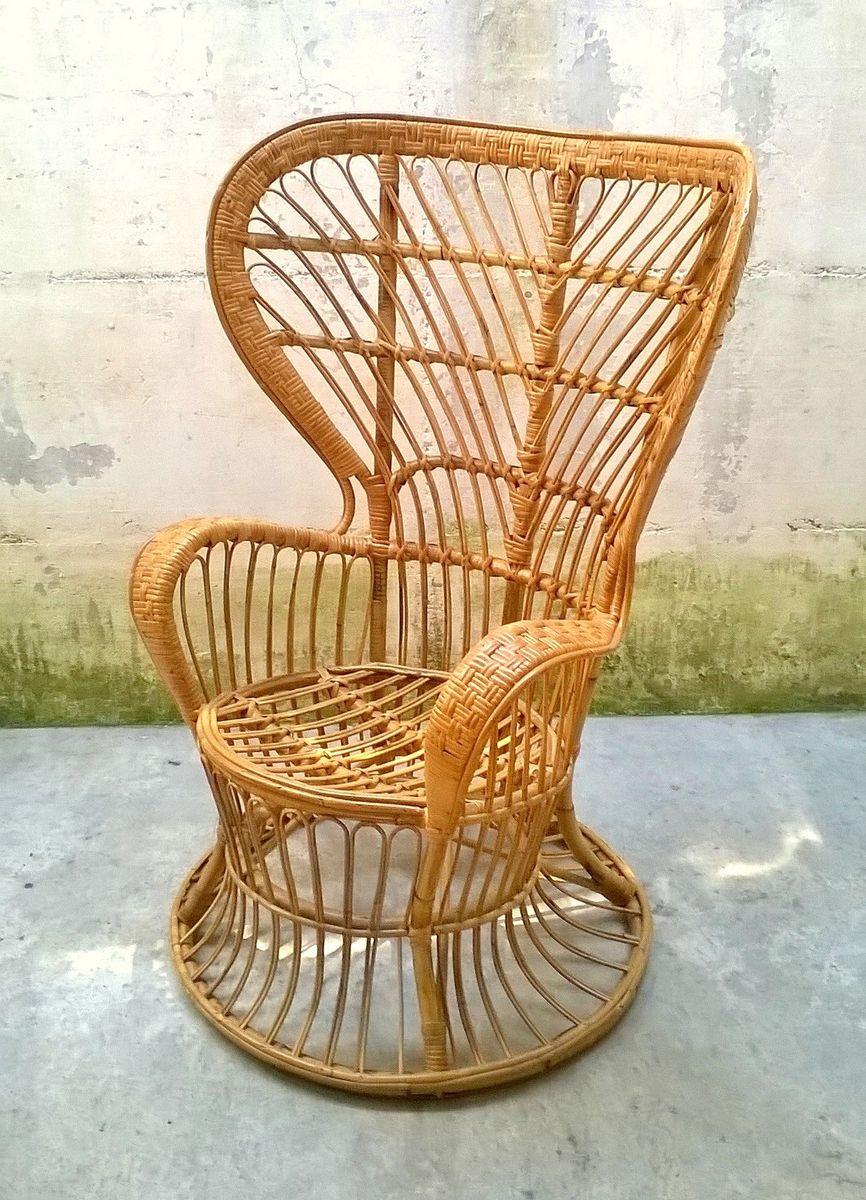 fauteuil en malacca rotin par lio carminati pour casa e. Black Bedroom Furniture Sets. Home Design Ideas