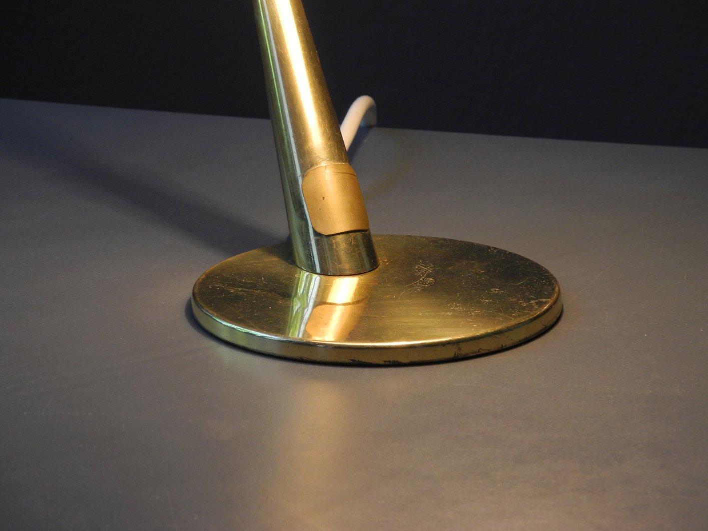 lampe de bureau en laiton de kaiser idell 1950s en vente sur pamono. Black Bedroom Furniture Sets. Home Design Ideas