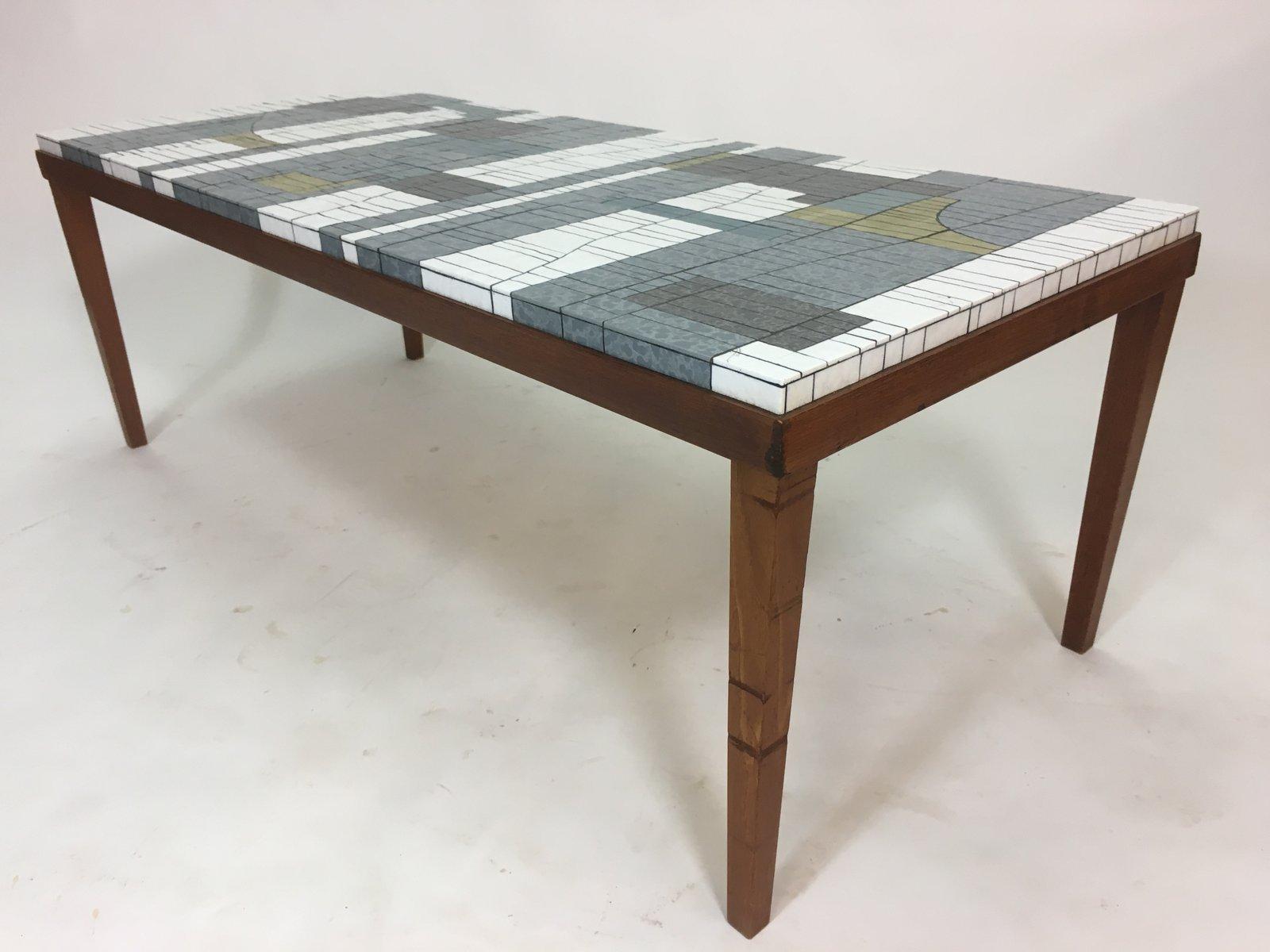 table basse mosa que en verre par heinz lilienthal 1960s en vente sur pamono. Black Bedroom Furniture Sets. Home Design Ideas