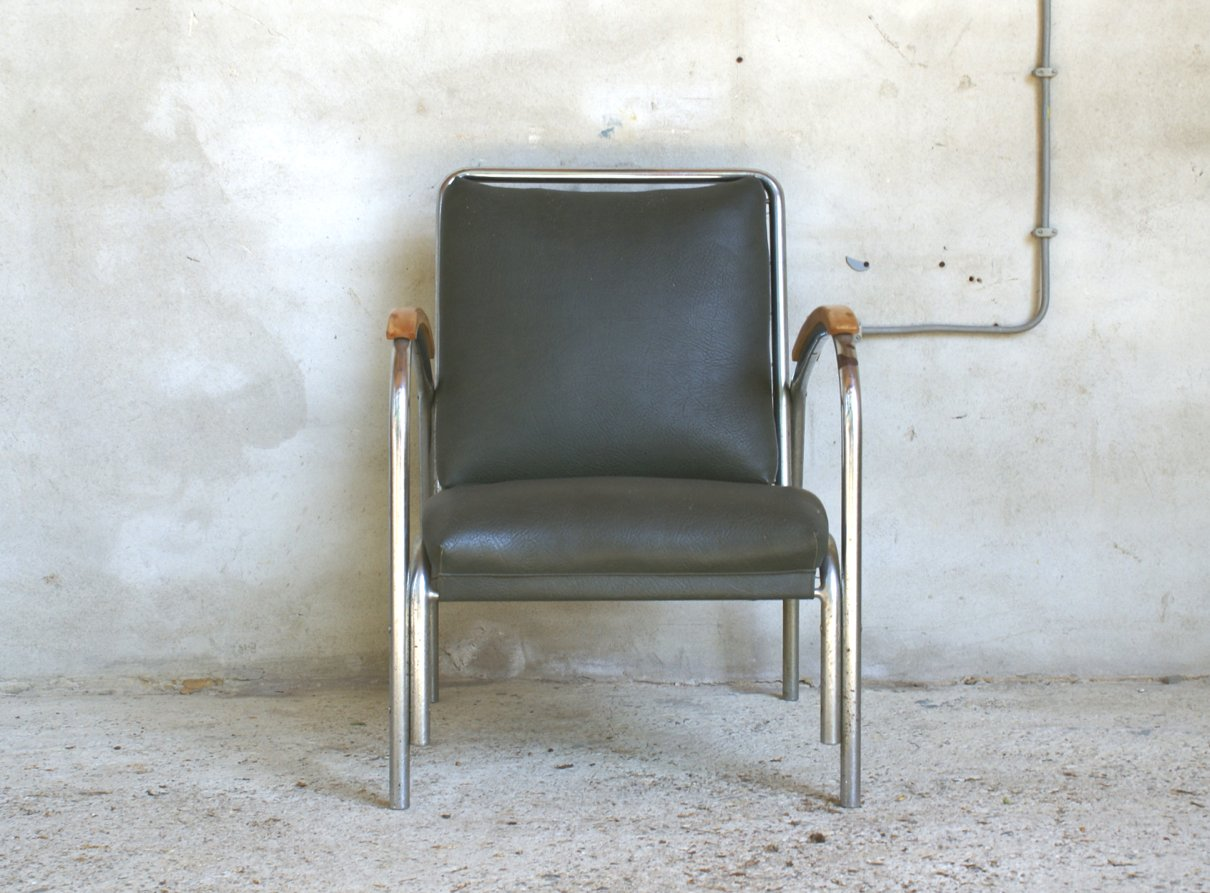 fauteuil de style bauhaus 1920s en vente sur pamono. Black Bedroom Furniture Sets. Home Design Ideas