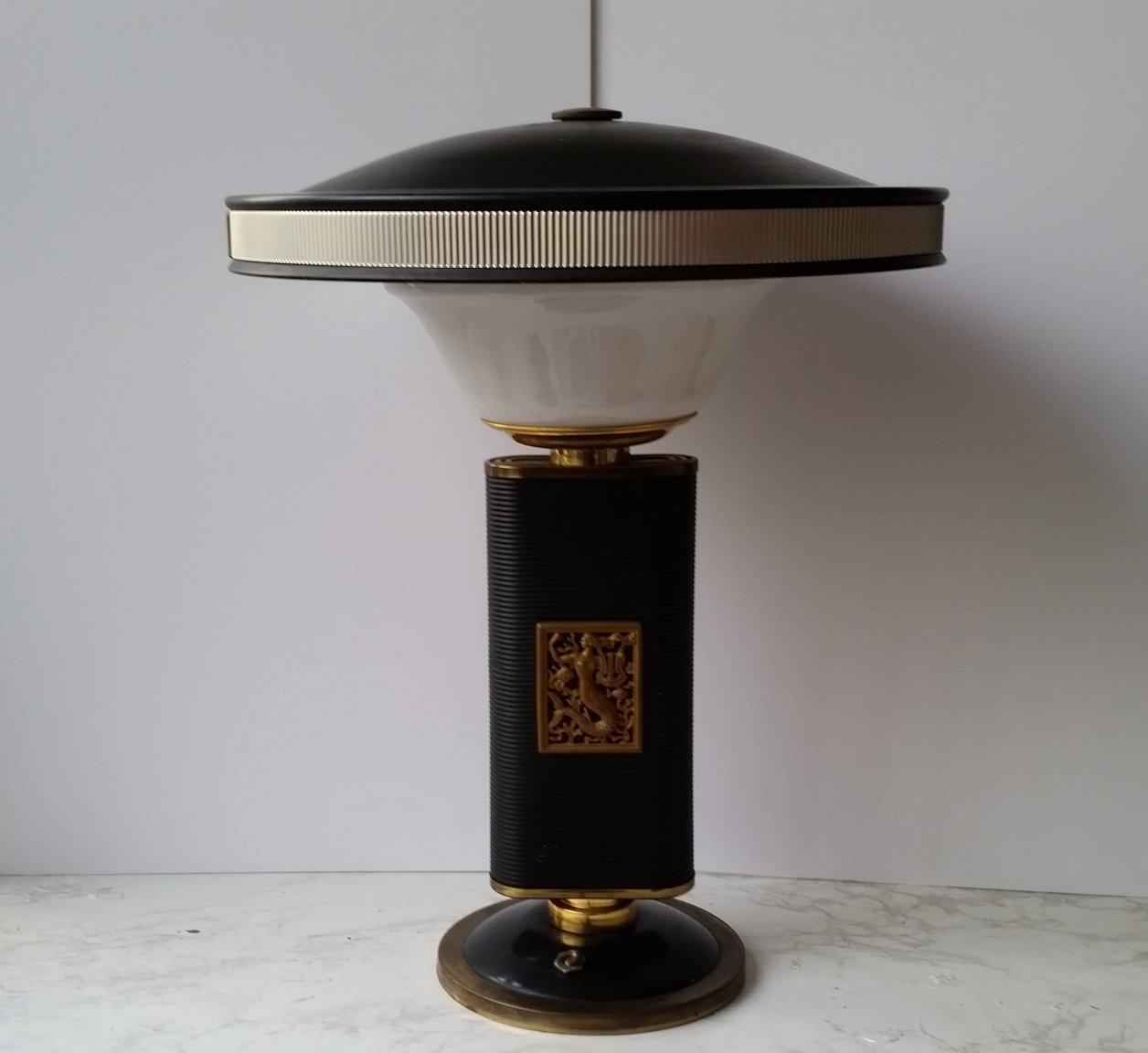 Vintage Model Mermaid Table Lamp By Eileen Gray For Sale