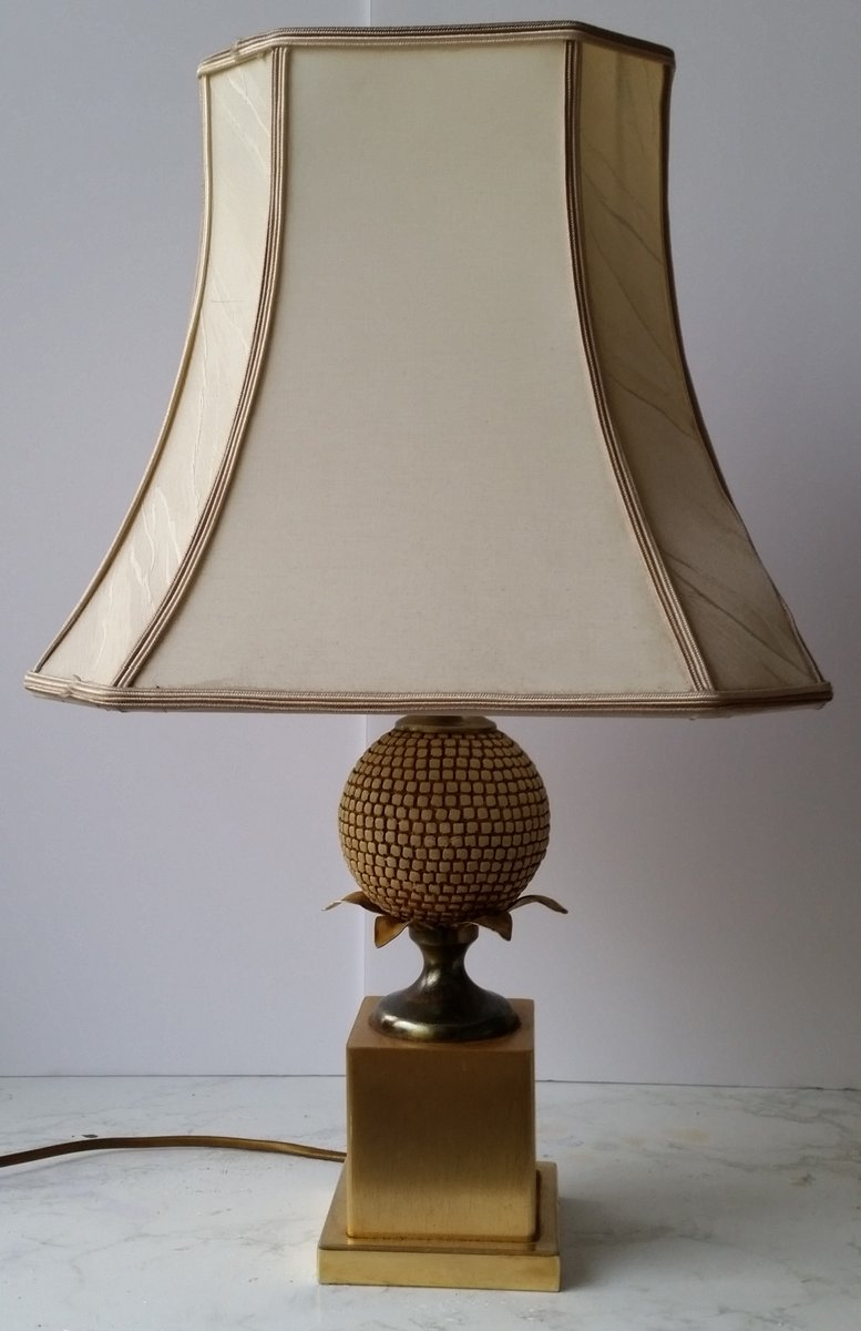 Vintage Pineapple Table Lamp By Maison Jansen For Maison Charles For