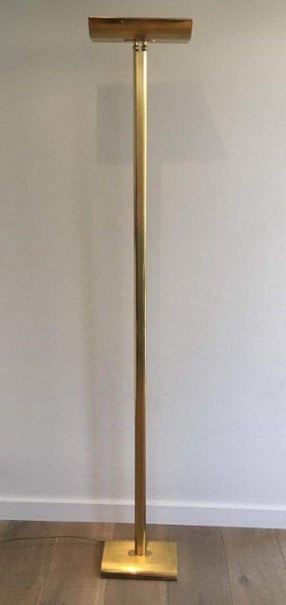 Messing Deckenfluter Stehlampe, 1970er